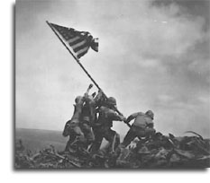 Flag Raising on Iwo Jima - photo from the National Archives and Records Administration (NWDNS-80-G-413988)