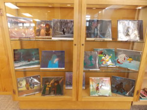 display of animation stills by Ralph Bakshi