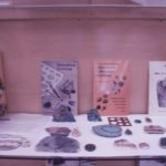 Books about jewelry-making and mineral specimens