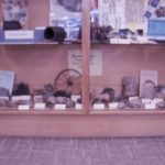 variety of interesting rocks and other items found by society members