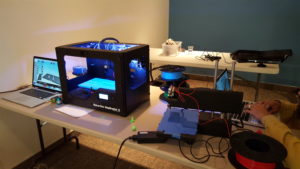 3D printers as demonstrated by the Makerstate Initiative