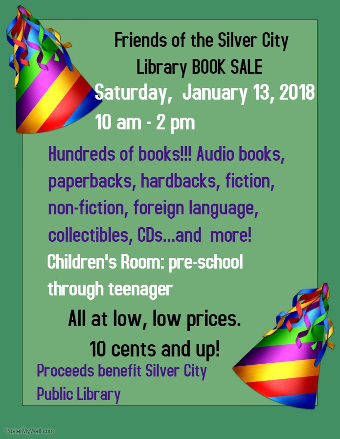 January 13 book sale poster